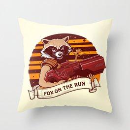 Rocket Raccoon / Fox on the Run Throw Pillow