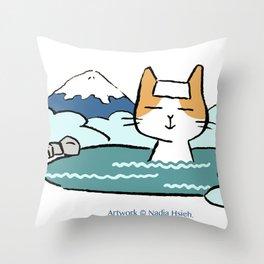 Traveling Kitty Throw Pillow