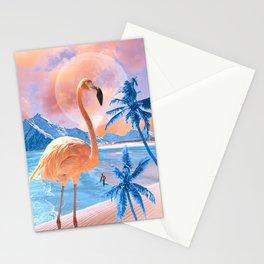 Flamingo World #digitalmagic #collage  Stationery Cards