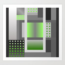 Crazy Patten -50 Shades of grey 5 Art Print