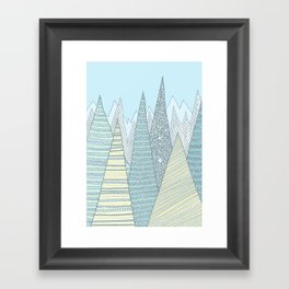Summer Mountains Framed Art Print