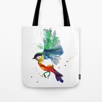 birdy Tote Bags featuring Birdy by Annaleigh Louise