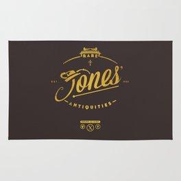 """Jones' Rare Antiquities"" - gold version Rug"
