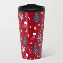 It's Christmas Time Colourful Pattern IV Travel Mug