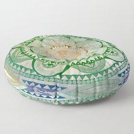 Metta Mandala, Loving Kindness Meditation Floor Pillow