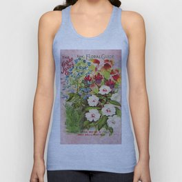 Vintage Flowers Advertisement Collage Unisex Tank Top