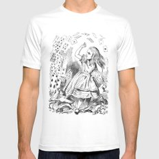 Alice's card attack MEDIUM Mens Fitted Tee White