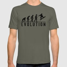 The Evolution Of Man And Snowboarding T-shirt