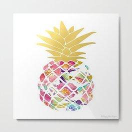 Preppy Pineapple Metal Print