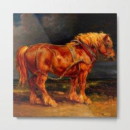 horses paintings oil Metal Print