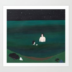 Nightswimming 2 Art Print