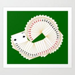 Playing Card Spread Art Print
