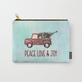 Vintage Toy Truck Peace Love & Joy Carry-All Pouch