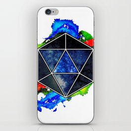 d20 Icosahedron of Imagination iPhone Skin