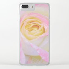 Pink Rose Vector Clear iPhone Case