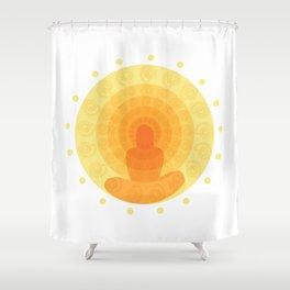 Shiny mandala Shower Curtain