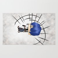 berserk Area & Throw Rugs featuring Legato Bluesummers by artwaste