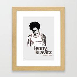 Lenny Kravitz - Portrait II Framed Art Print