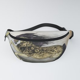 Awesome fantasy horse with skulls Fanny Pack