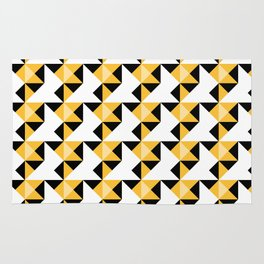 A simple geometric pattern . Triangles . 3 Rug