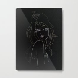 black girl Metal Print