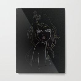 black girl Metal Print