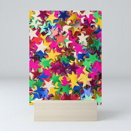 Glitter Stars Sequins Mini Art Print