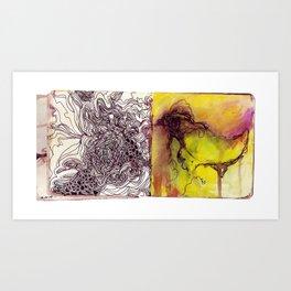 Scribbles and doodles Art Print