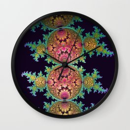 Amazing patterns in orbs and dragon spirals Wall Clock