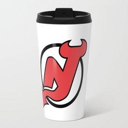 New Jersey Devil Logo Travel Mug