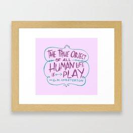 G. K. Chesterton Framed Art Print
