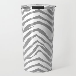 Chevron stripes zebra pattern minimal grey and white basic pattern nursery home decor Travel Mug