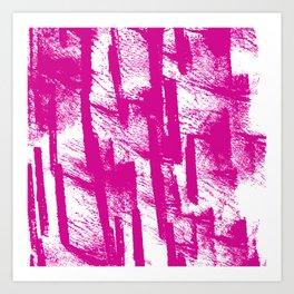 Hand painted  pink watercolor brushtrokes splatters pattern Art Print