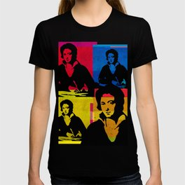 PERCY BYSSHE SHELLEY - ENGLISH POET, 4-UP POP ART COLLAGE T-shirt