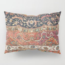Persian Medallion Rug IX // 16th Century Distressed Red Green Blue Flowery Colorful Ornate Pattern Pillow Sham