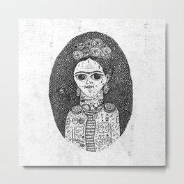 Frida Kahlo Hard Metal Print
