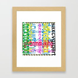 Meeting between ocaissonally letters Framed Art Print
