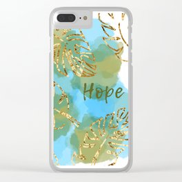 hopeful Clear iPhone Case