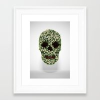 pushing daisies Framed Art Prints featuring Pushing up Daisies by Luke Dwyer - Artist