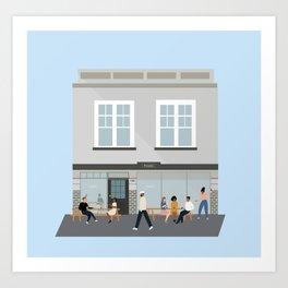 Peoples Coffee, Cafe in Newtown, Wellington, NZ Art Print