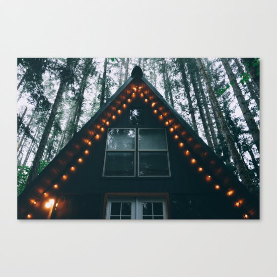 Cabin #woods Canvas Print