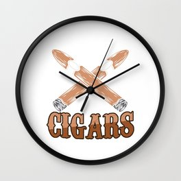 Cigarette Tobacco Lighter Ashtray Unlike You Cigars Make Me Happy Gift Wall Clock