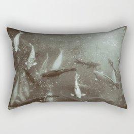 Koi In The Garden Rectangular Pillow