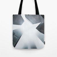 cityscape Tote Bags featuring Cityscape by General Design Studio