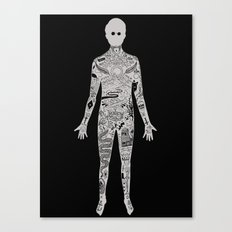 the illustrated man - bradbury Canvas Print