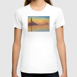 Claude Monet San Giorgio Maggiore at Dusk (Venice) T-shirt