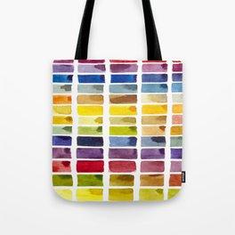 Watercolor Rainbow Tile Tote Bag