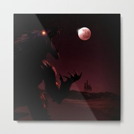 The Night of Silver and Blood Metal Print