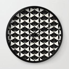 Fan Pattern Black-White Wall Clock
