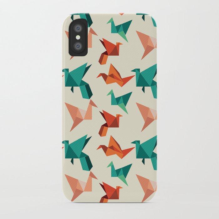 teal paper cranes iPhone Case